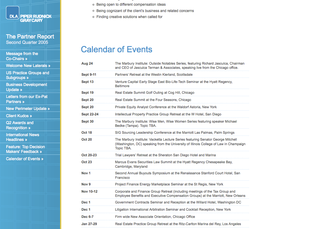 Calendar of Events (Full Sized)