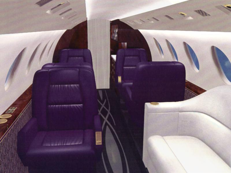 Falcon 50 Corporate Interior Design