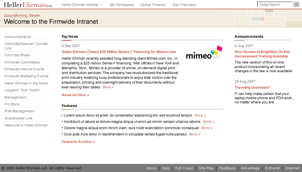 Intranet Homepage - New