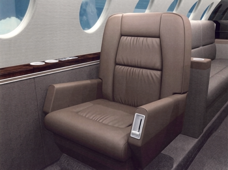 Falcon 50 Seat Rendering (Full Sized)